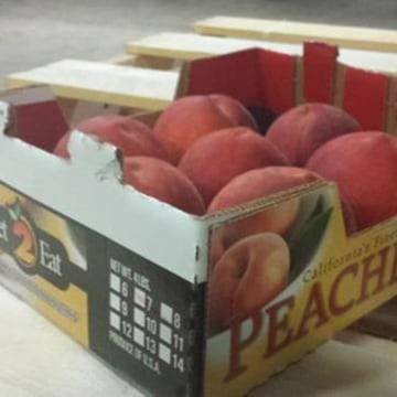 Image: Peaches linked to the listeria recall.