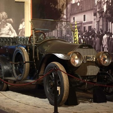Image: On display at the Museum of Military History in Vienna, Austria, is the car in which Archduke Franz Ferdinand was assassinated in Sarajevo