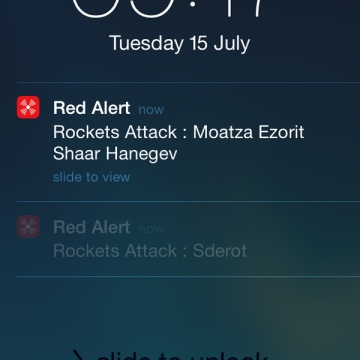 Image: The Red Alert app gives Israelis real-time warnings of incoming militant rockets by sending push alerts to smartphones.