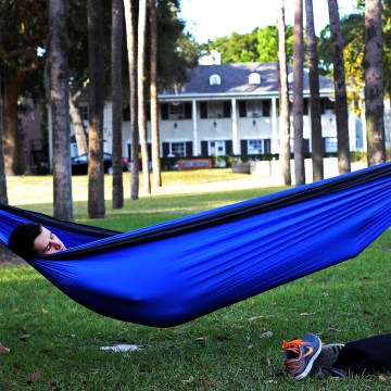 Image: A student naps in a hammock