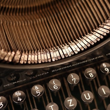 Image: A repaired vintage Olympia typewriter