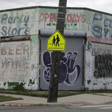 Image: The neighborhood around Southeastern High School in Detroit