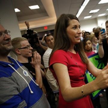 Image: Democrat Alison Grimes Campaigns Ahead Of Kentucky Primary