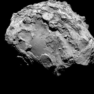 Image: A handout photo of comet 67P/Churyumov-Gerasimenko by Rosetta's OSIRIS narrow-angle camera