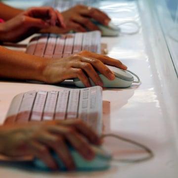 Image:  Internet users browse websites