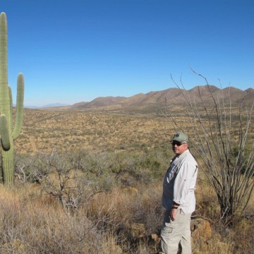 Image: Anthony Coulson, former DEA ASAC, visits the Chilton ranch on the U.S. and Mexico border in Arizona.