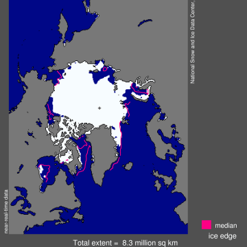 Image: Arctic sea ice in July 2014