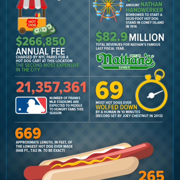 How Hot Dogs Are Made Infographic