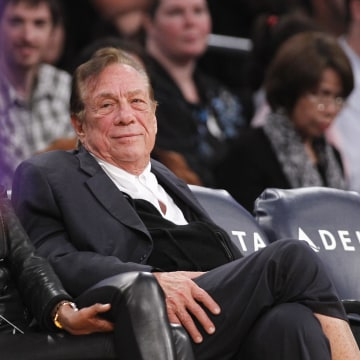 Image: Los Angeles Clippers owner Donald Sterling watches the Clippers play in 2011.