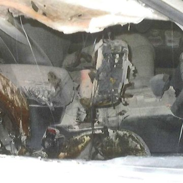 Image: A burnt out car was found this morning in Washington state.