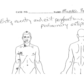 Michael Brown Preliminary Autopsy Diagram