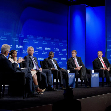Image: Bill Clinton, Aliko Dangote, Jeff Immelt, Andrew Liveris, Phuti Mahanyele, Doug McMillon