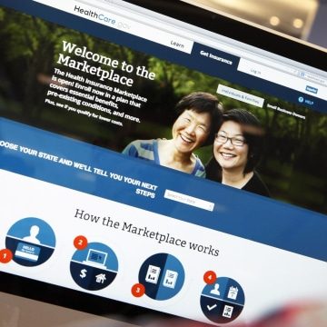Image: File of a man looking over the Affordable Care Act signup page on the HealthCare.gov website in New York in this photo illustration