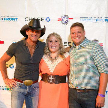 Tim McGraw with BJ & Brooke Frachiseur