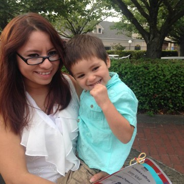 Image: Gabriela Garcia-Ixtacua and her son Jeremy Scholl drowned in Henry Hagg Lake last week in Hillsboro, Oregon.