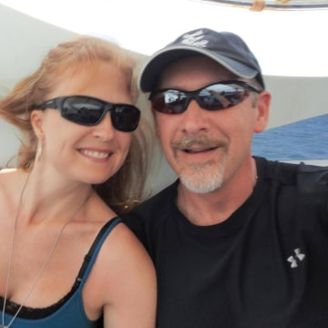 Image: Sarah Bajc with her boyfriend Philip Wood