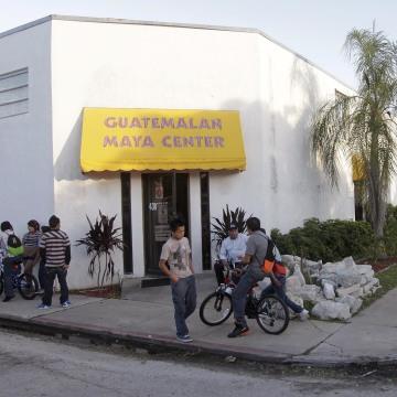Image: The Guatemala Maya Center in Lake Worth, Florida  where children ages 11-17 learn English.