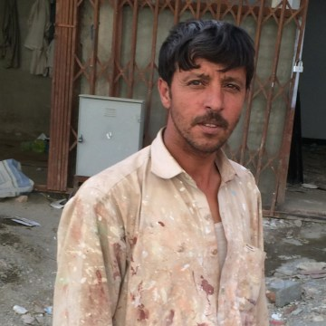 Rahim Shirzad, a 42-year-old laborer, has not been able to find work since the start of the election fiasco.