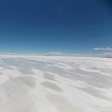 Image: Salar de Uyuni, salt water flats in southwest Bolivia.
