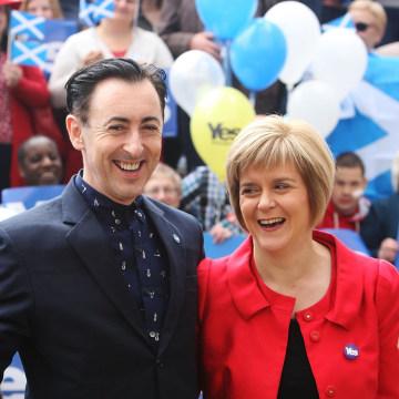 Image: Nicola Sturgeon Continues Health Campaign