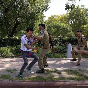 Image: Indian Police Clash With Tibetan Protesters