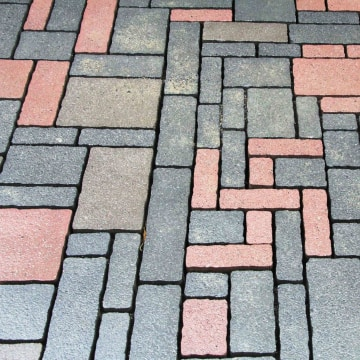 Bricks in the shape of a swastika.