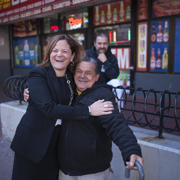Melissa Viverito Meeting a Consituent