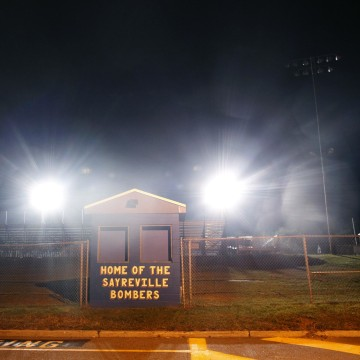 Image: The ticket stand and entrance to the Sayreville High football field on Oct. 6.