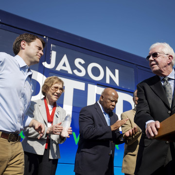 Image: Jason Carter, Jimmy Carter, John Lewis, Rosalynn Carter