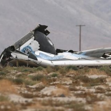 IMAGE: SpaceShipTwo crash scene