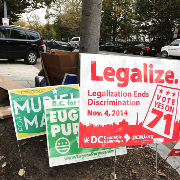 Image: Cannabis legalization signs