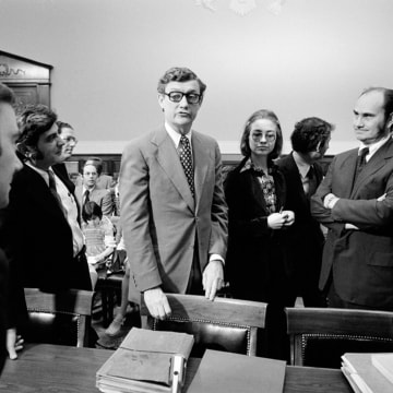 Image: Hillary Clinton & John Doar Bring Impeachment Charges Against Nixon