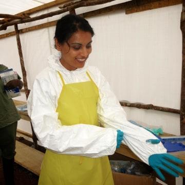 Image: Dr. Nahid Bhadelia during a trip to Kenema, Sierra Leone, in August 2014.