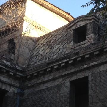 "Image: Third-floor window of ""Haunted House"""