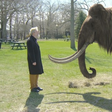 Image: Geneticist and mammoth