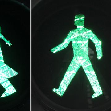 east german crosswalk man