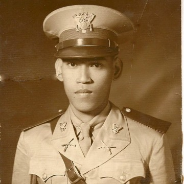 1941 photo of Celestino Almeda, Philippine Commonwealth Army under U.S. Army command.