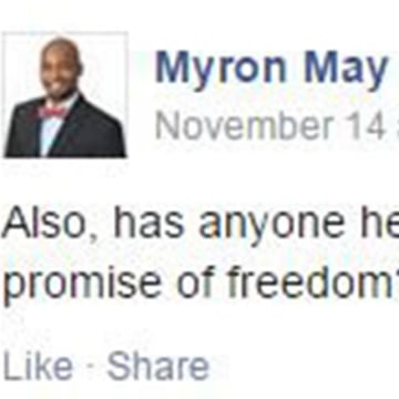 Image:Myron May Facebook Post