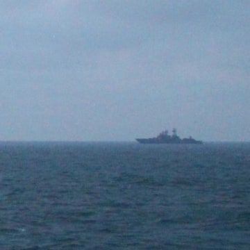 Image: Russian Vessels Passing Through the English Channel Today