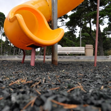 Image: The playground at Bandon City Park in Bandon, Oregon.