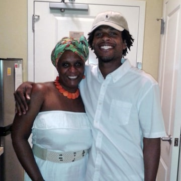Image: John Crawford III, right, and his mother Tressa Sherrod