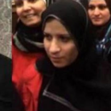 Image: ISIS leader Abu Bakr al-Baghdadi, left, and a woman believed to be his wife, Sujidah al-Dulaimi, right.