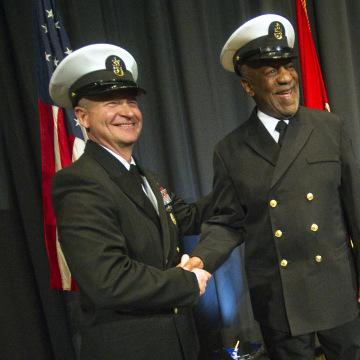 Image: Bill Cosby Given Honorary Navy Rank