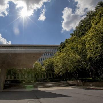 Image: Exterior of the CIA headquarters building.
