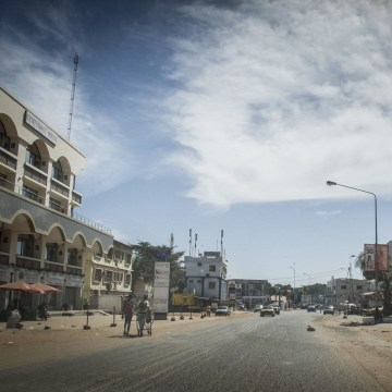 Image: Post-coup streets in Gambia