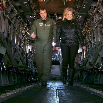 Image: Cynthia McFadden of NBC News with Capt. Todd Flannery