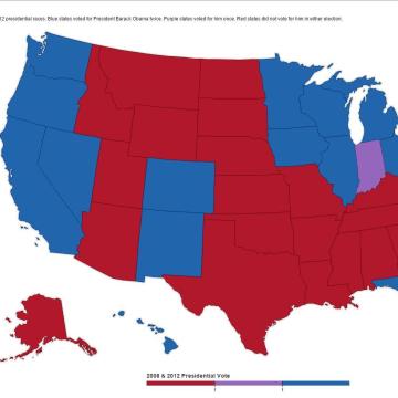 2008/2012 Electoral Map