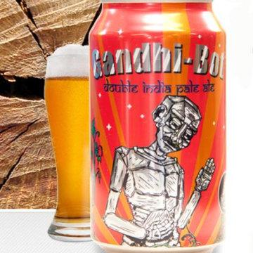 Image: Image: New England Brewing Gandhi-Bot beer bottle