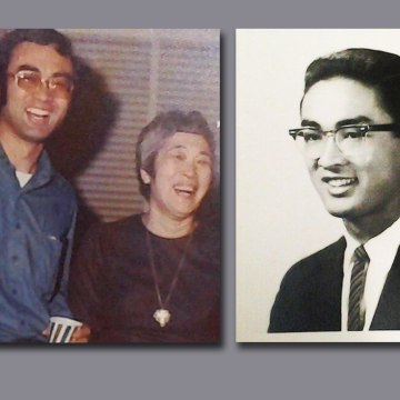 Todd Endo is seen, at left with his mother and aunt in 1972; at right, as a young man in 1963.