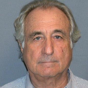 Image: Booking mug shot of Bernard Madoff